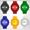 Vector Illustration Of Modern Wristwatch Stock Photography - 56195172