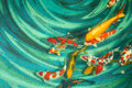 Koi Fishes Royalty Free Stock Photography - 56195757