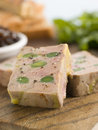 Foie Gras And Baby Leeks With Toasted Brioche Royalty Free Stock Image - 5620516