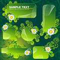 Green Floral Banners Royalty Free Stock Images - 5627939