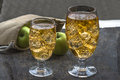 Apple Cider With Ice Cubes Royalty Free Stock Photos - 56204918