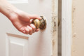 Hand Opening The Door Royalty Free Stock Photography - 56206127