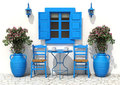 Traditional Greek Terrace Royalty Free Stock Photo - 56209165