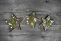 Shabby And Vintage Apple Green And Grey Wooden Christmas Decorat Royalty Free Stock Images - 56210179