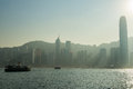 Victoria Harbour In Hong Kong Royalty Free Stock Photo - 56221255