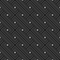 Black And White Geometric Seamless Pattern With Weave Style. Royalty Free Stock Image - 56226796