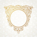 Vector Decorative Line Art Frame In Eastern Style. Royalty Free Stock Photos - 56244458