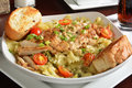 Grilled Chicken On Pasta Royalty Free Stock Image - 56249316