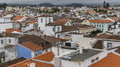 Top View Of Roofs In The Center Of Ponta Delgada, Azores Royalty Free Stock Image - 56250256