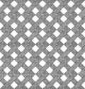 Black And White Geometric Seamless Pattern With Weave Style. Stock Photography - 56252442