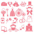 Vector Wedding Flat  Icons Set For Web And Mobile Royalty Free Stock Photography - 56255817