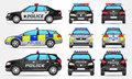 Police Cars - Side - Front - Back View Royalty Free Stock Images - 56268299