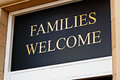 Families Welcome Sign Stock Photo - 56287430