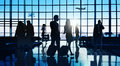 Back Lit Business People Traveling Airport Passenger Concept Stock Images - 56294634