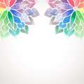 Vector Rainbow Watercolor Painted Flowers On White Background Royalty Free Stock Photos - 56296818