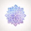 Watercolor Lotus Flower Blue And Violet Stock Images - 56296874