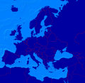 Map Of Europe With Borderlines Stock Images - 5633234