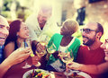 Diverse People Friends Hanging Out Drinking Concept Royalty Free Stock Photos - 56303548