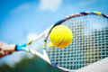 Tennis Player Playing A Match Stock Photos - 56305183