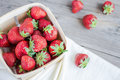 Fresh Strawberries In A Box, Raw Summer Berries, Selective Focus Stock Photos - 56306053