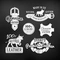 Set Of Leather Quality Goods Vector Designs Royalty Free Stock Images - 56308119