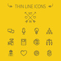Business Thin Line Icon Set Stock Photography - 56310552