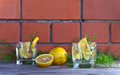 Alcoholic Drink With Lemon And Ice Royalty Free Stock Image - 56313696