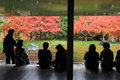Unidentified People Rest At A Zen Garden Inside Byodo-In Temple Royalty Free Stock Photo - 56337565