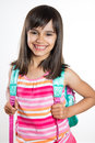 Portrait Of A Young School Girl Royalty Free Stock Images - 56349849