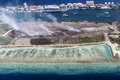 Aerial View Of Thilafushi Island, Industrial Area, North Male Atoll, Maldives Stock Image - 56350751