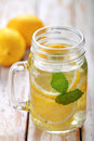 Lemon Infused Water For Refreshment Stock Photos - 56388883