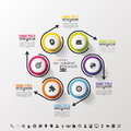 Infographic Design Circles On The Grey Background. Vector Royalty Free Stock Photo - 56393915