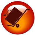 Luggage On Hand Cart Button Royalty Free Stock Photo - 5644835