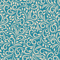 Seamless Floral Pattern On Uniform Background Royalty Free Stock Photo - 56403765