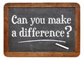 Can You Make A Difference - Blackboard Stock Image - 56406091