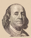 Portrait Of U.S. President Benjamin Franklin Royalty Free Stock Images - 56407659