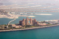 The Atlantis Palm Helicopter View Stock Images - 56409354