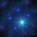 Blue Fractal Stars With Light Royalty Free Stock Image - 56411436