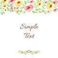 Floral Watercolor Hand Drawn Frame. Royalty Free Stock Image - 56437656