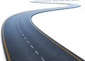 The Road With A Marking Going To A Distance Royalty Free Stock Photos - 56449048
