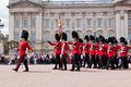 British Royal Guards Perform The Changing Of The Guard In Buckingham Palace Royalty Free Stock Photography - 56449167