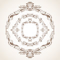 Vector Set Of Circle Vintage Frames. Royalty Free Stock Photography - 56454917