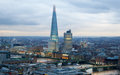 City Of London, Business And Banking Area. London S Panorama At Sun Set. Royalty Free Stock Photo - 56465975