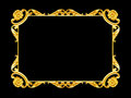 Ornament Elements, Vintage Gold Frame Floral Designs Stock Image - 56466901