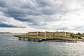 Old Fort Under Stormy Sky Royalty Free Stock Image - 56476236