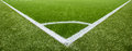 Corner Chalk Line On Artifical Turf Soccer Field Royalty Free Stock Photography - 56489547