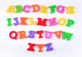 Colorful Plastic Alphabet Letters On A White Stock Image - 56491641