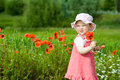 Baby With Red Flower Stock Image - 5659571