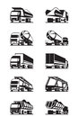 Different Types Of Trucks With Trailers Royalty Free Stock Photography - 56509307