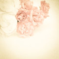 Sweet Color Roses On Mulberry Paper Texture Royalty Free Stock Photos - 56529278